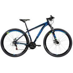 Bicicleta Mountain Bike Caloi 21 Marchas Aro 29 Suspensão Dianteira Freio a Disco Mecânico Caloi 29 2018