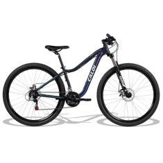Bicicleta Mountain Bike Caloi 21 Marchas Aro 29 Suspensão Dianteira Freio a Disco Mecânico Évora