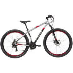 Bicicleta Mountain Bike Caloi 21 Marchas Aro 29 Suspensão Dianteira Freio a Disco Mecânico Supra 2021