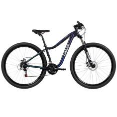 Bicicleta Mountain Bike Caloi 21 Marchas Aro 29 Suspensão Dianteira Freio Disco Mecânico Lotus