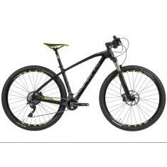 Bicicleta Mountain Bike Caloi 22 Marchas Aro 29 Suspensão Dianteira Freio a Disco Hidráulico Elite Carbon Sport 2019
