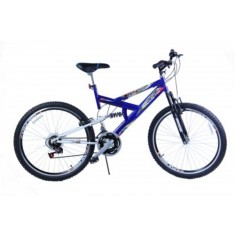 Bicicleta Mountain Bike Dalannio Bike 18 Marchas Aro 20 Suspensão Full Suspension Freio V-Brake Max 220