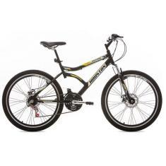 Bicicleta Mountain Bike Houston 21 Marchas Aro 26 Suspensão Dianteira Freio a Disco Mecânico Discovery 2.6