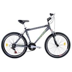 Bicicleta Mountain Bike Houston 21 Marchas Aro 26 Suspensão Dianteira Freio V-Brake Frontier Win