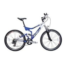 Bicicleta Mountain Bike Houston 21 Marchas Aro 26 Suspensão Full Suspension Freio V-Brake Mercury FS