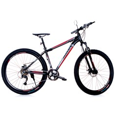Bicicleta Mountain Bike Monark 27 Marchas Aro 29 Suspensão Dianteira Freio a Disco Mecânico Allum Acera
