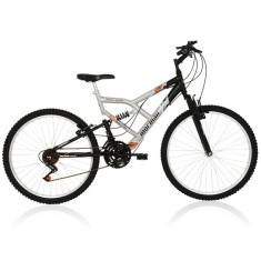 Bicicleta Mountain Bike Mormaii 18 Marchas Aro 26 Suspensão Full Suspension Freio V-Brake Fullsion