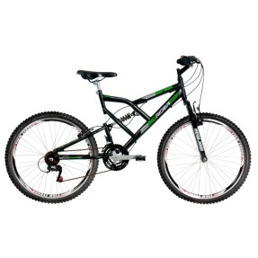 Bicicleta Mountain Bike Mormaii 21 Marchas Aro 26 Suspensão Full Suspension Freio V-Brake Big Rider