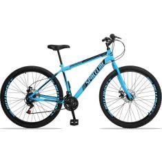 Bicicleta Mountain Bike Spaceline 21 Marchas Aro 29 Suspensão Dianteira Freio a Disco Mecânico Moon