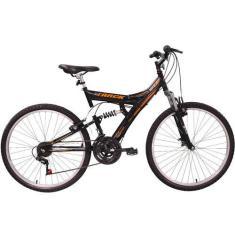 Bicicleta Mountain Bike Track & Bikes 18 Marchas Aro 26 Suspensão Full Suspension Freio V-Brake TB 100 OP