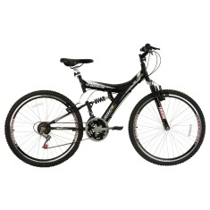 Bicicleta Mountain Bike Track & Bikes 18 Marchas Aro 26 Suspensão Full Suspension Freio V-Brake TB 300