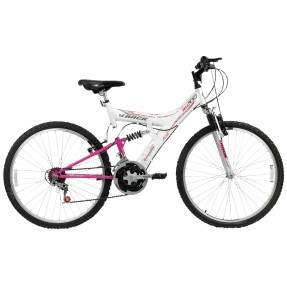 Bicicleta Mountain Bike Track & Bikes 18 Marchas Aro 26 Suspensão Full Suspension Freio V-Brake TB200XS