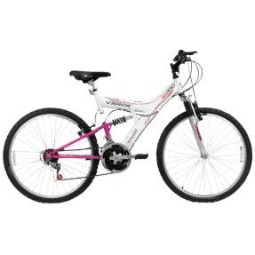 Bicicleta Mountain Bike Track & Bikes 18 Marchas Aro 26 Suspensão Full Suspension Freio V-Brake TB200XS