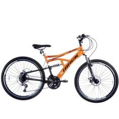 Bicicleta Mountain Bike Track & Bikes 21 Marchas Aro 26 Suspensão Full Suspension Freio Disco Mecânico TB 500