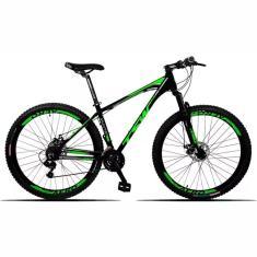 Bicicleta Mountain Bike TWS 21 Marchas Aro 29 Freio a Disco Mecânico Hunter