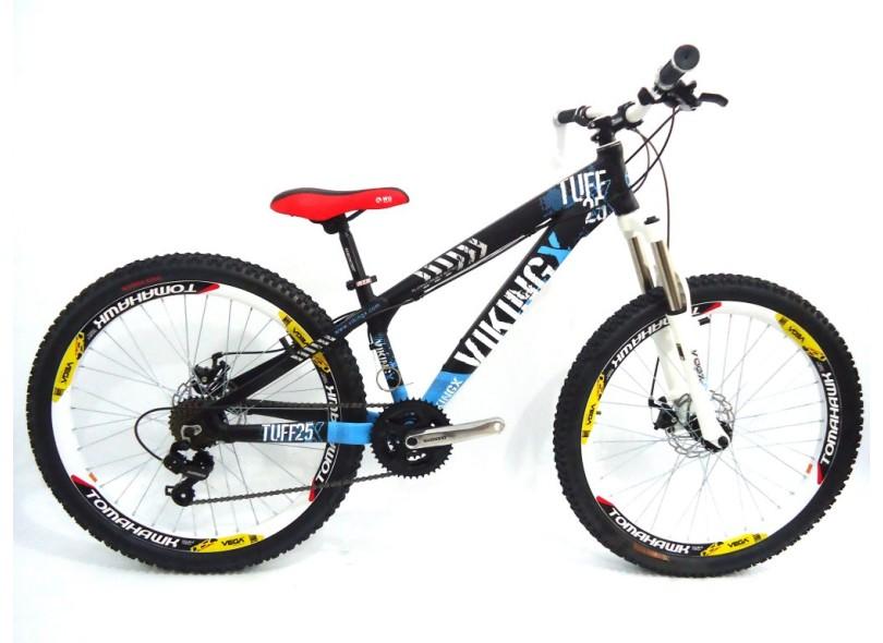 9afcdfe006 Bicicleta Mountain Bike Vikingx Aro 26 21 Marchas Suspensão Dianteira Tuff25