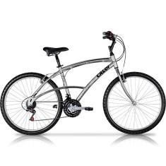 Bicicleta Passeio Caloi Aro 26 21 Marchas Freio V-Brake 100 Masculina