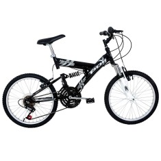 Bicicleta Polimet 18 Marchas Aro 20 Suspensão Full Suspension Freio V-Brake Kanguru 500