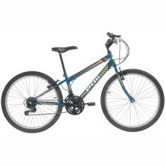 Bicicleta Polimet 18 Marchas Aro 24 Freio V-Brake Podium Masculina