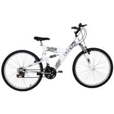 Bicicleta Polimet 18 Marchas Aro 24 Suspensão Full Suspension Freio V-Brake Kanguru 500