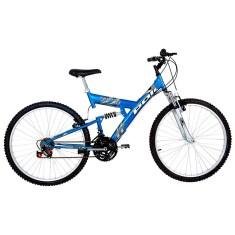 Bicicleta Polimet 18 Marchas Aro 26 Suspensão Full Suspension Freio V-Brake Kanguru 500