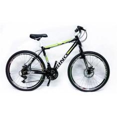 Bicicleta Rino 21 Marchas Aro 26 Suspensão Dianteira Freio Disco Mecânico Atacama
