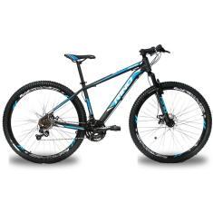 Bicicleta Rino 24 Marchas Aro 29 Suspensão Dianteira Freio a Disco Atacama