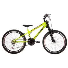 Bicicleta Track & Bikes 18 Marchas Aro 24 Suspensão Dianteira Freio V-Brake Dragon Fire