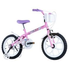Bicicleta Track & Bikes Aro 16 Freio V-Brake Pinky