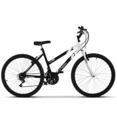 Bicicleta Track & Bikes Lazer 18 Marchas Aro 26 Freio V-Brake Ultra Bikes Bicolor