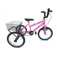 Bicicleta Triciclo Valdo Bike Aro 16 Freio V-Brake Joaninha