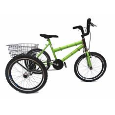 Bicicleta Triciclo Valdo Bike Aro 20 Freio V-Brake Bambu