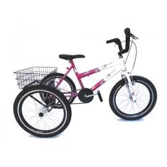 Bicicleta Triciclo Valdo Bike Aro 20 Freio V-Brake Florata