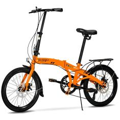 Bicicleta TwoDogs Dobrável 7 Marchas Aro 20 Freio a Disco Hidráulico Pliage Plus