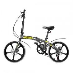 Bicicleta TwoDogs Dobrável 7 Marchas Aro 20 Freio a Disco Mecânico Pliage Alloy