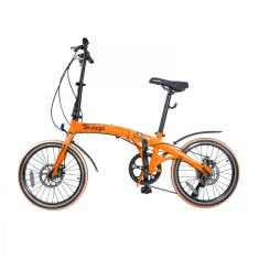 Bicicleta TwoDogs Dobrável 7 Marchas Aro 20 Freio a Disco Mecânico Pliage