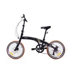 Bicicleta TwoDogs Dobrável Aro 20 Freio a Disco Mecânico Pliage