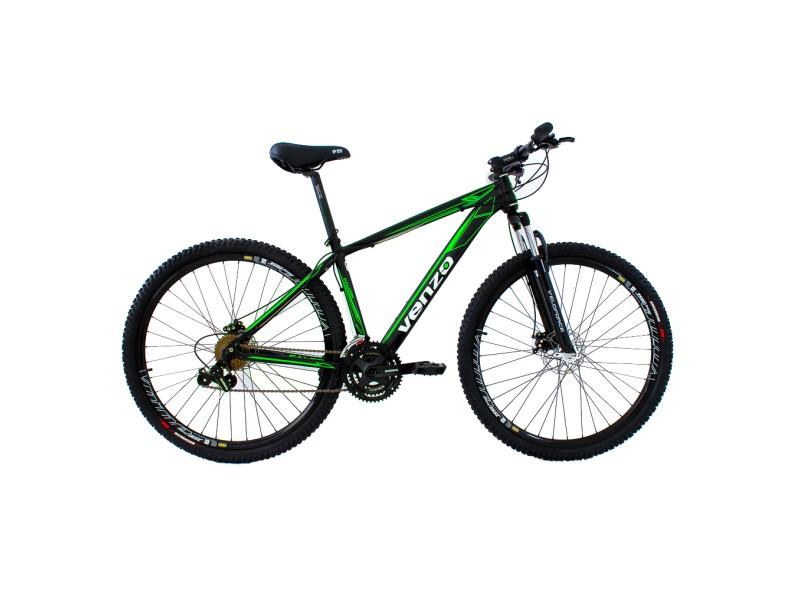 5c8409ada Bicicleta Venzo Aro 29 24 Marchas Suspensão Dianteira Falcon
