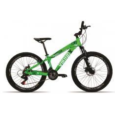 Bicicleta Vikingx 21 Marchas Aro 26 Suspensão Dianteira Freio a Disco Mecânico X25 Tuff