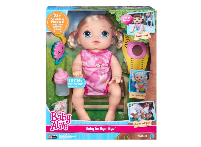 866dd370cf Boneca Baby Alive Hora do Passeio