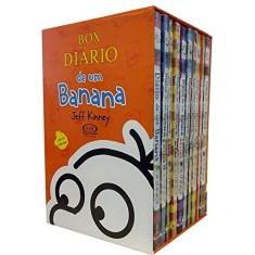 Foto Box - Diário de Um Banana - 10 Volumes - Acompanha Pôster - Kinney, Jeff - 7898383591078