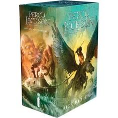 Foto Box Percy Jackson E Os Olimpianos (5 Volumes) - Capa Comum - 9788580574623
