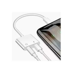 Cabo Adaptador Carrega Fone Duplo P2 iPhone 7 8 X 11pro Max