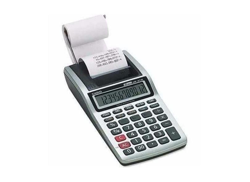 05b1388833c Calculadora De Mesa com Bobina Casio HR8TMBK A