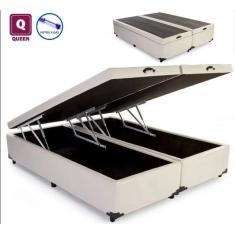 Cama Box Baú Queen Bipartido 158cm AColchões
