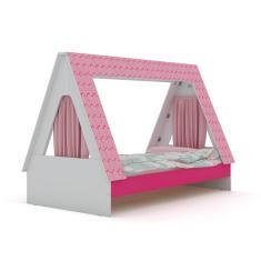 Cama Infantil com Casinha Cabaninha Gelius Móveis