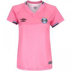 Camisa Edição Especial Feminina Grêmio Outubro Rosa 2018 Umbro