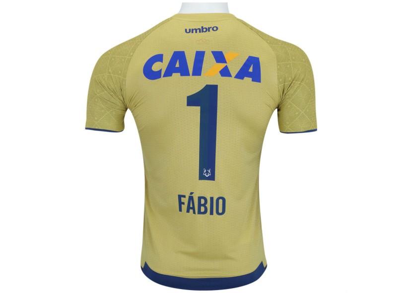 Camisa Cruzeiro 2017 Fábio nº 1 Goleiro Masculino Umbro e374dd154e215