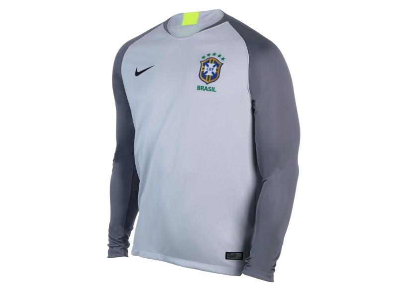 8f6fe6aa0a Camisa Manga Longa Brasil 2018 19 sem Número Goleiro Masculino Nike