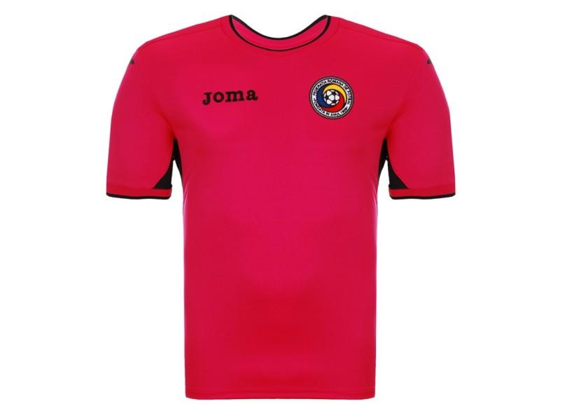 e4900bca65 Camisa Romênia I 2016 sem Número Goleiro Masculino Joma